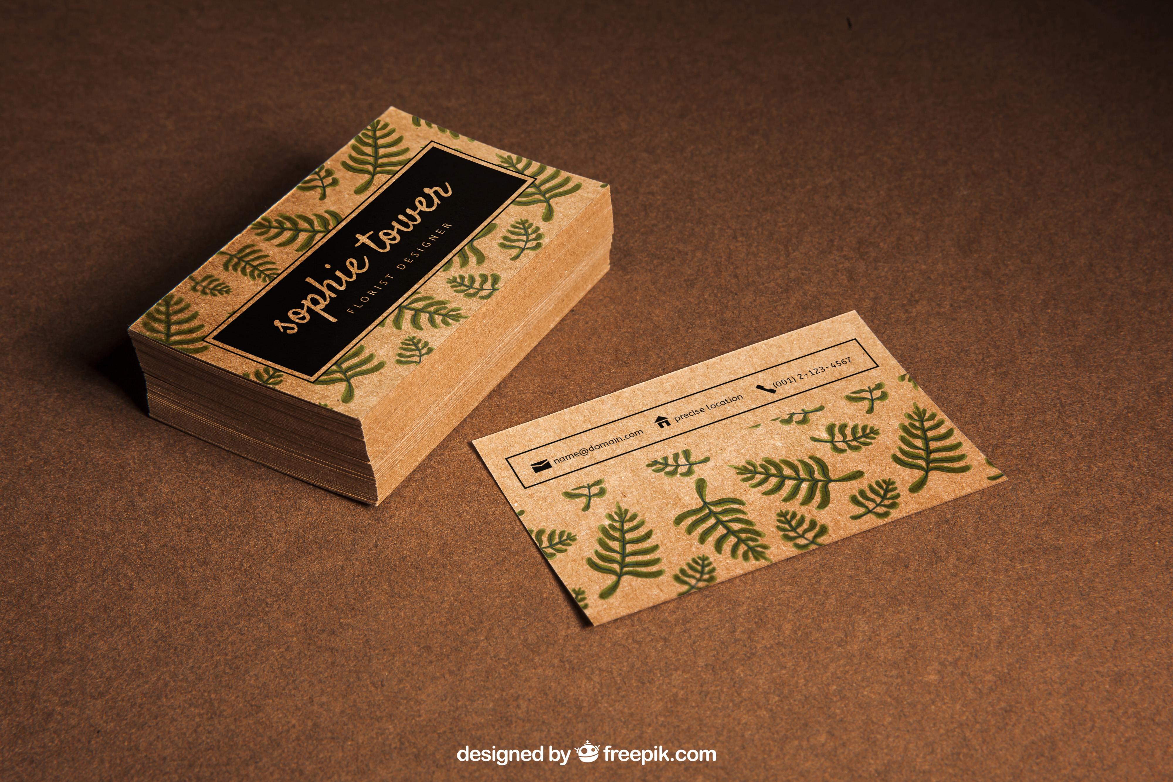 wizytówki z papieru ekologicznego